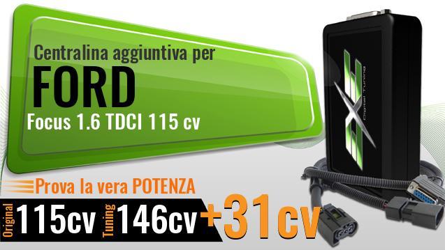 Centralina Aggiuntiva OBD2 v3 per Focus Mk3 III 1.6 TDCi 115CV ChipTuning Diesel
